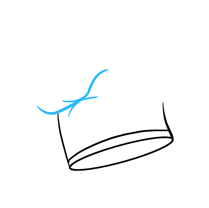 How to Draw Chef Hat Step 04
