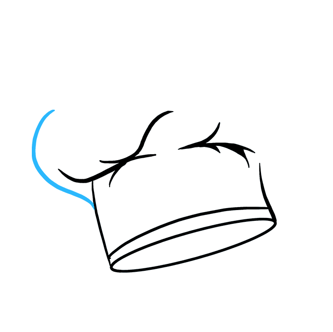 How to Draw Chef Hat Step 06