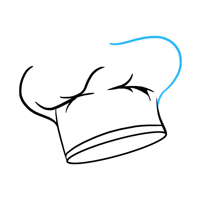 How to Draw Chef Hat: Step 7