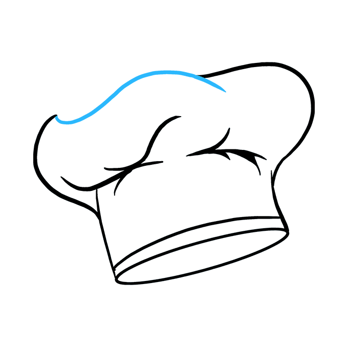 How to Draw Chef Hat Step 08