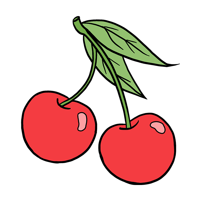 How to Draw Cherries: Step 10
