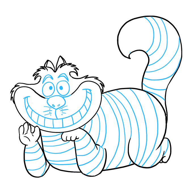 How to Draw Cheshire Cat: Step 9