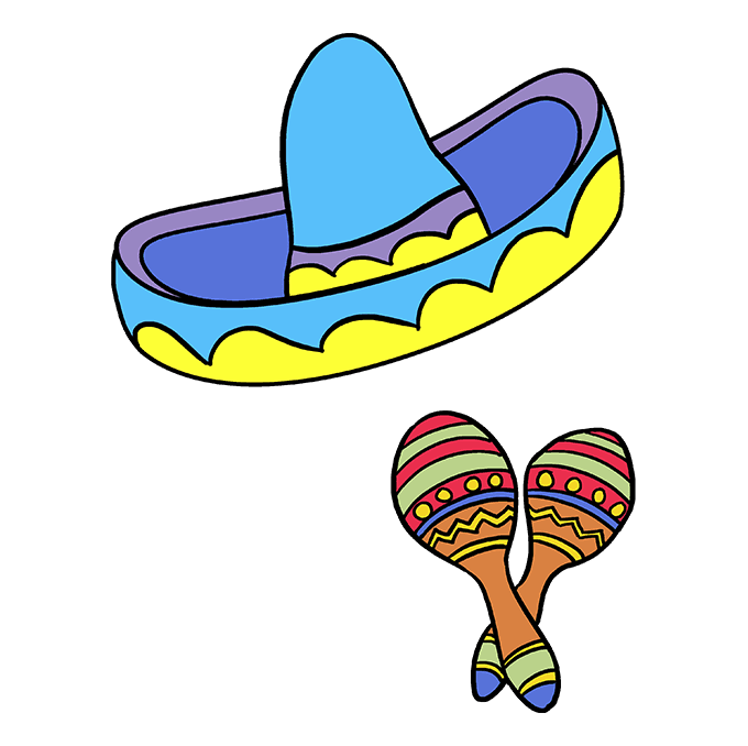How to Draw Cinco De Mayo: Step 10
