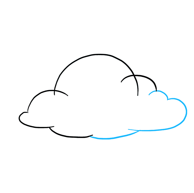 How to Draw Clouds: Step 5