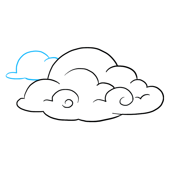 How to Draw Clouds: Step 8