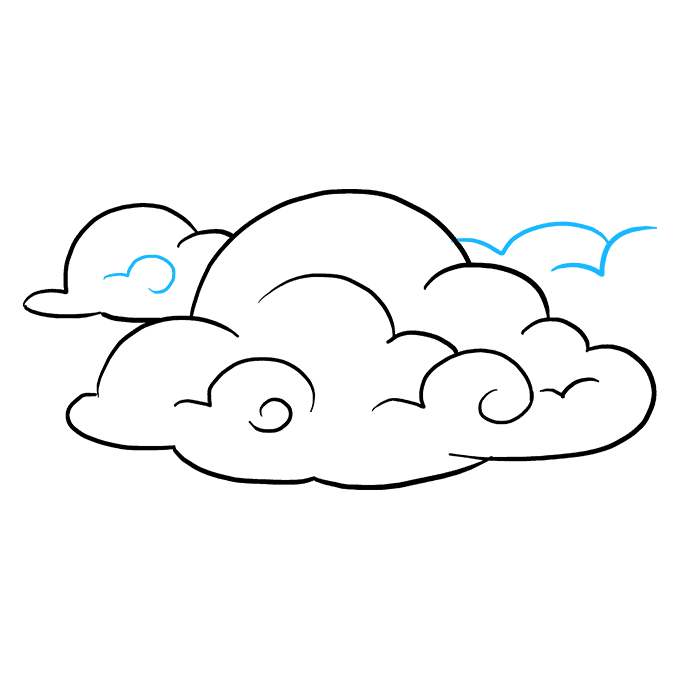 How to Draw Clouds: Step 9