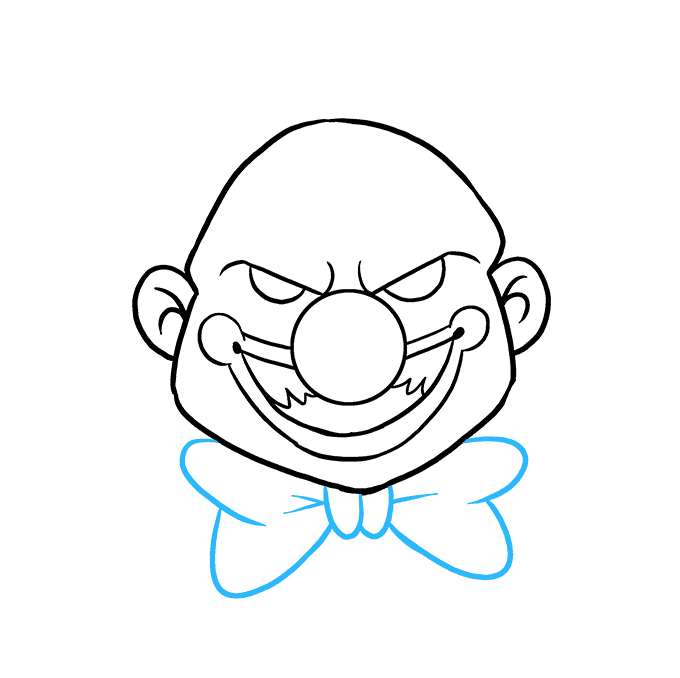 How to Draw Scary Clown: Step 7