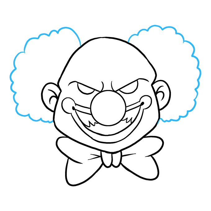How to Draw Scary Clown: Step 8