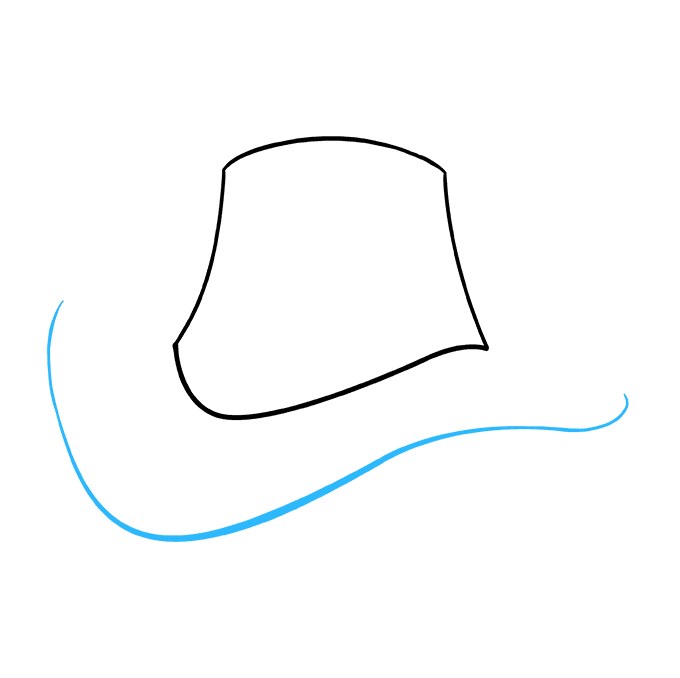 How to Draw Cowboy Hat: Step 4
