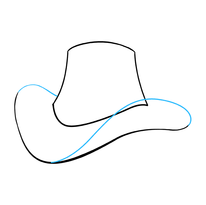 How to Draw Cowboy Hat: Step 5