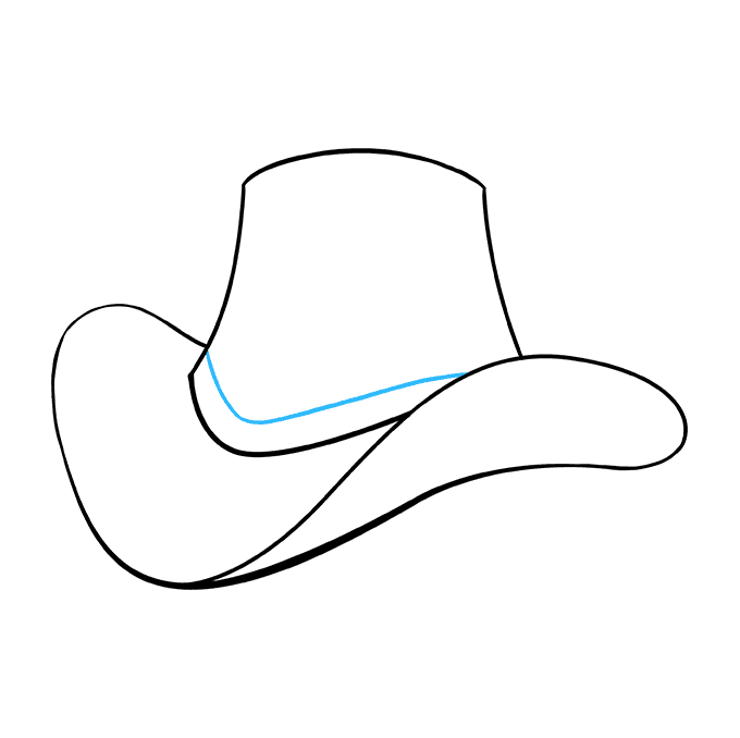 How to Draw Cowboy Hat: Step 7