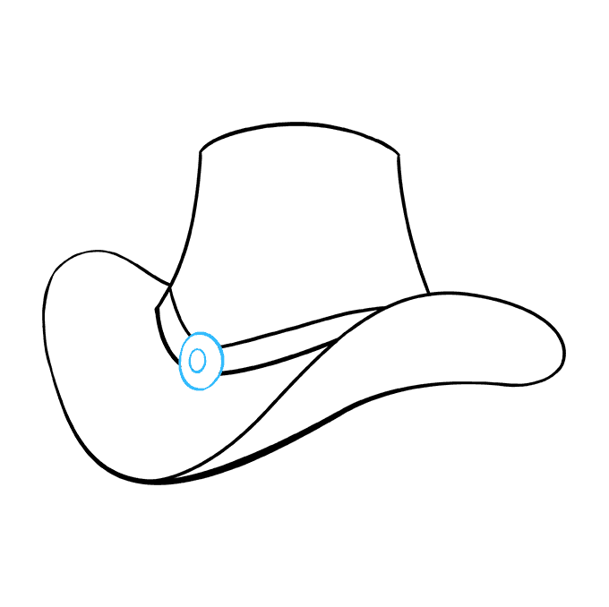 How to Draw Cowboy Hat: Step 8