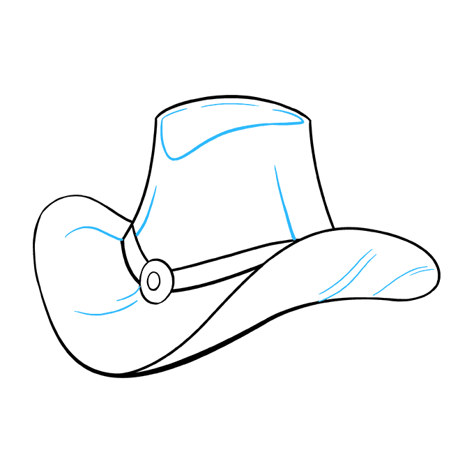 How to Draw Cowboy Hat: Step 9
