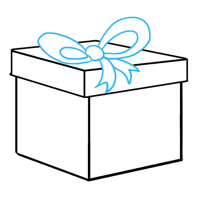 How to Draw Christmas Present: Step 8