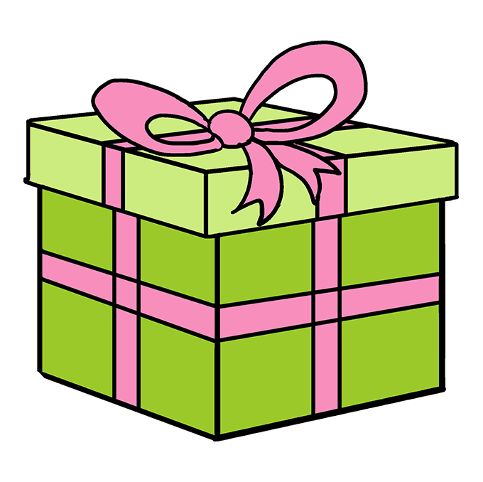 Christmas Gift Box Drawing.How To Draw A Christmas Present Really Easy Drawing Tutorial