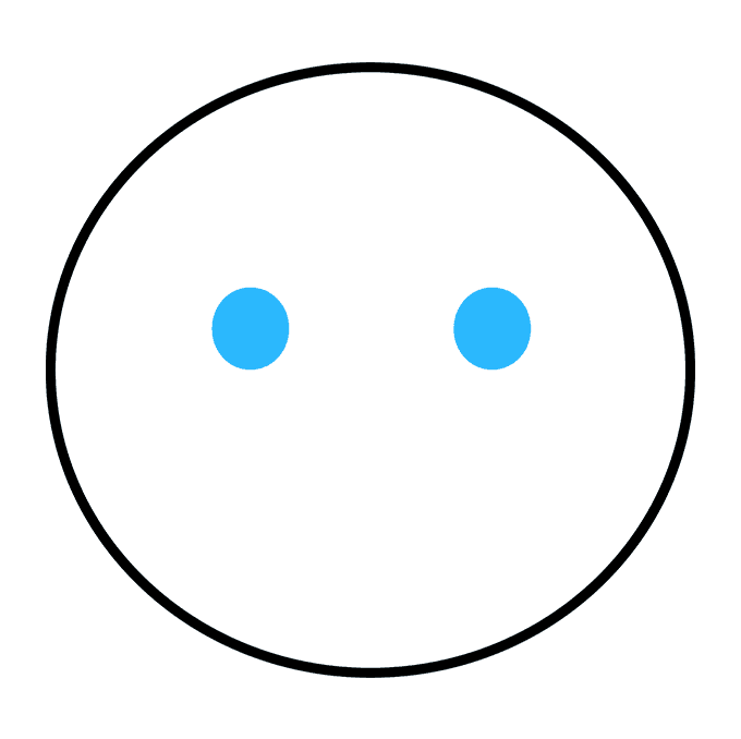 How to Draw Crying Emoji Step 02
