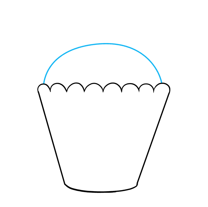 How to Draw Cupcake: Step 6