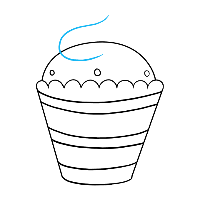 How to Draw a Cupcake Step 08
