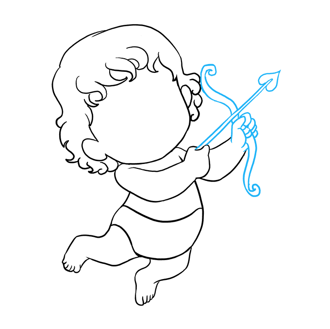 How to Draw Cupid: Step 8