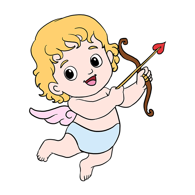 How to Draw Cupid: Step 10