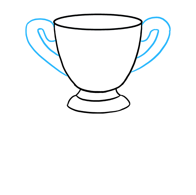 How to Draw Trophy: Step 4