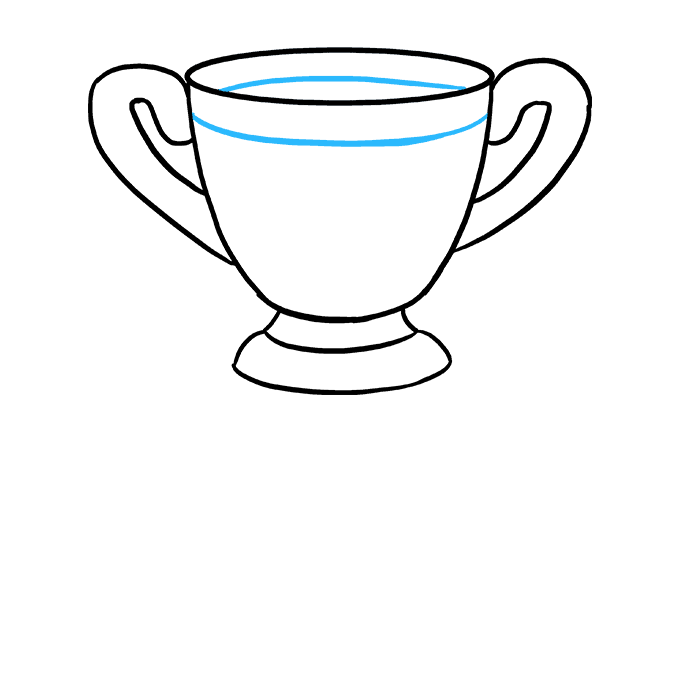 How to Draw Trophy: Step 5