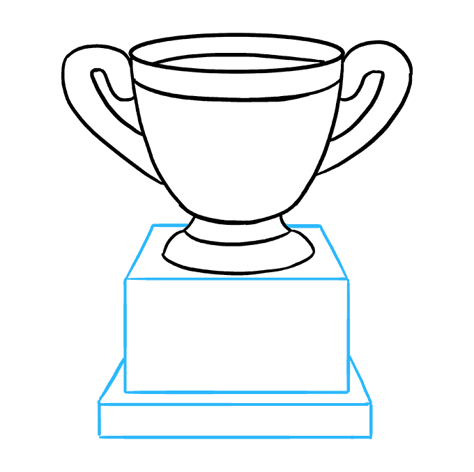 How to Draw Trophy: Step 6