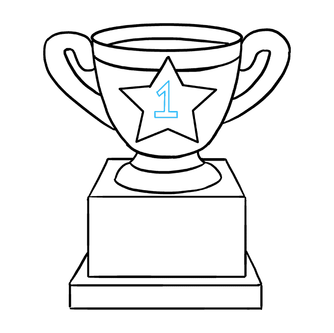 How to Draw Trophy: Step 8