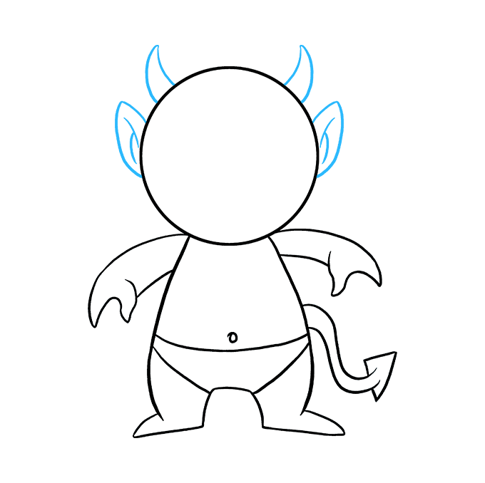 How to Draw Demon: Step 8