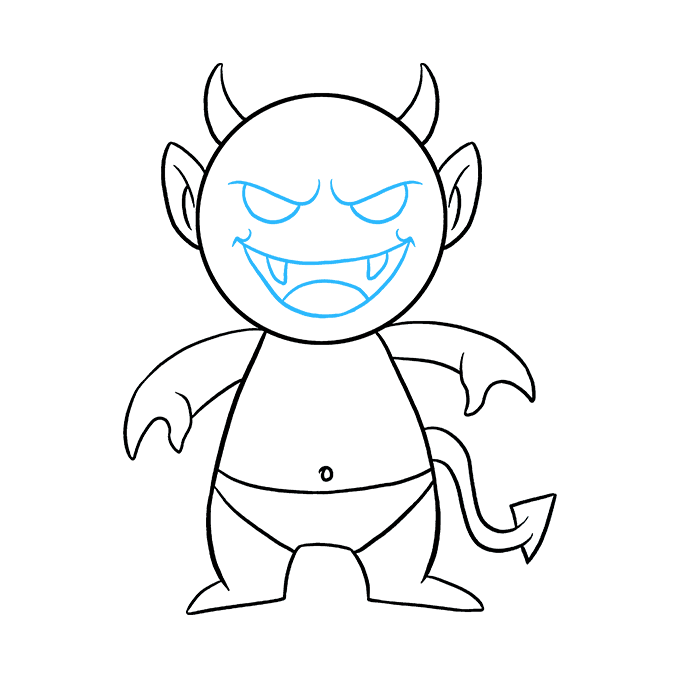 How to Draw Demon: Step 9