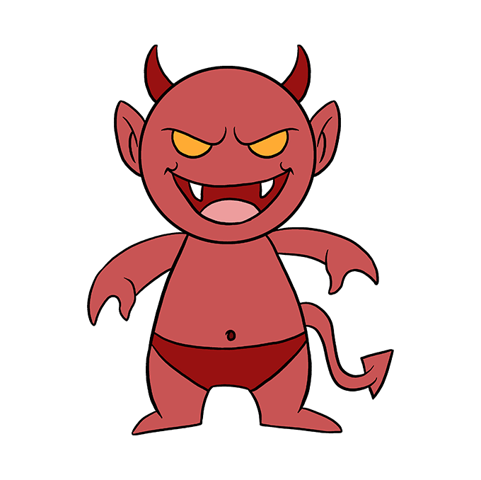 How to Draw Demon: Step 10