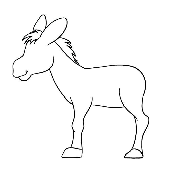 How to Draw Donkey: Step 7