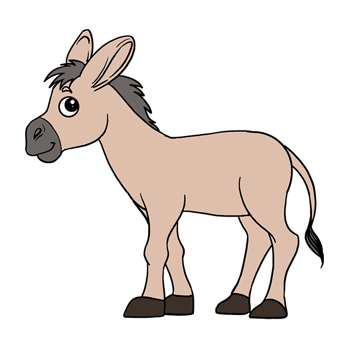 How to Draw Donkey: Step 10