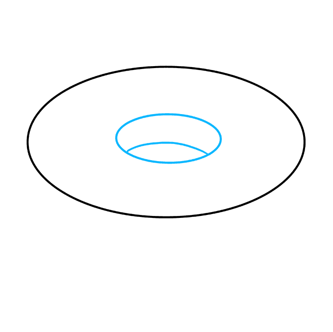 How to Draw Donut: Step 2