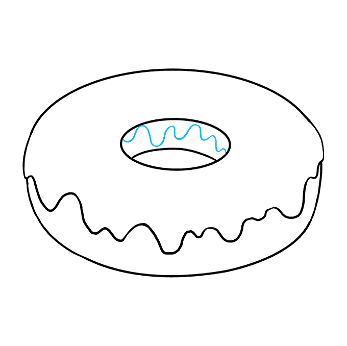 How to Draw Donut: Step 6