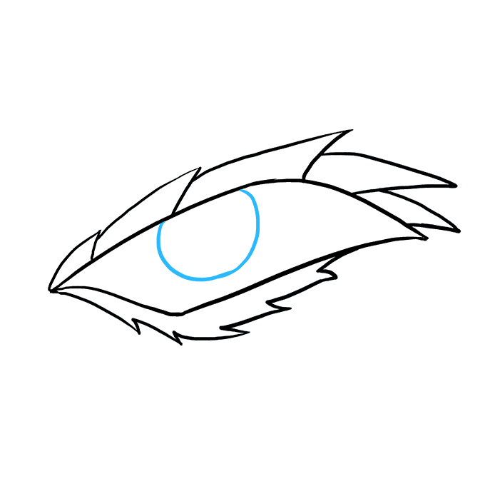 How to Draw Dragon Eye: Step 6