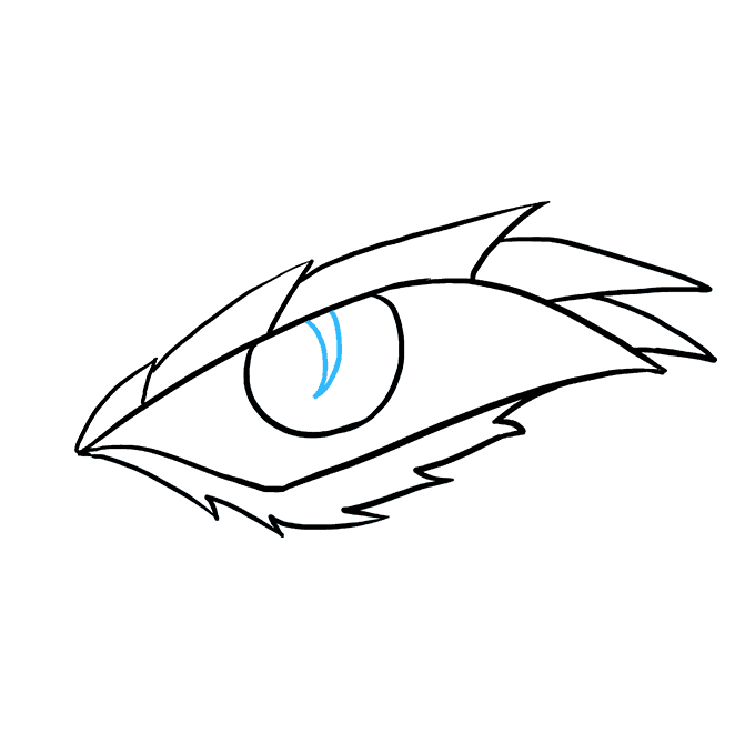How to Draw a Dragon Eye Step 07