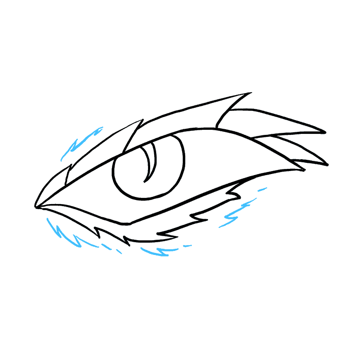 How to Draw Dragon Eye: Step 8