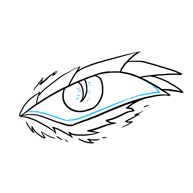 How to Draw a Dragon Eye Step 09
