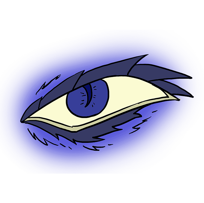 How to Draw a Dragon Eye Step 10