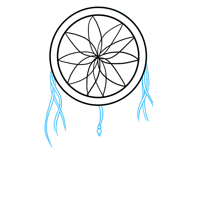 How to Draw Dream Catcher: Step 4