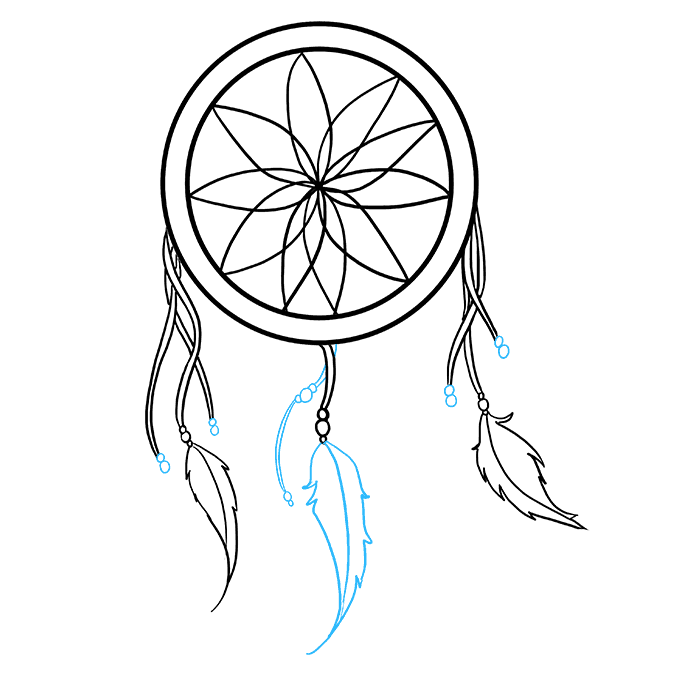 How to Draw Dream Catcher: Step 6