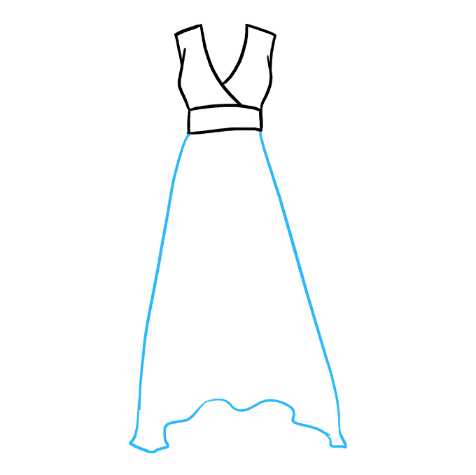 How to Draw Dress: Step 3