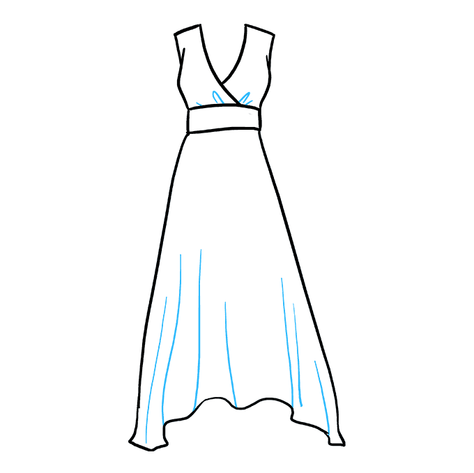How to Draw Dress: Step 4