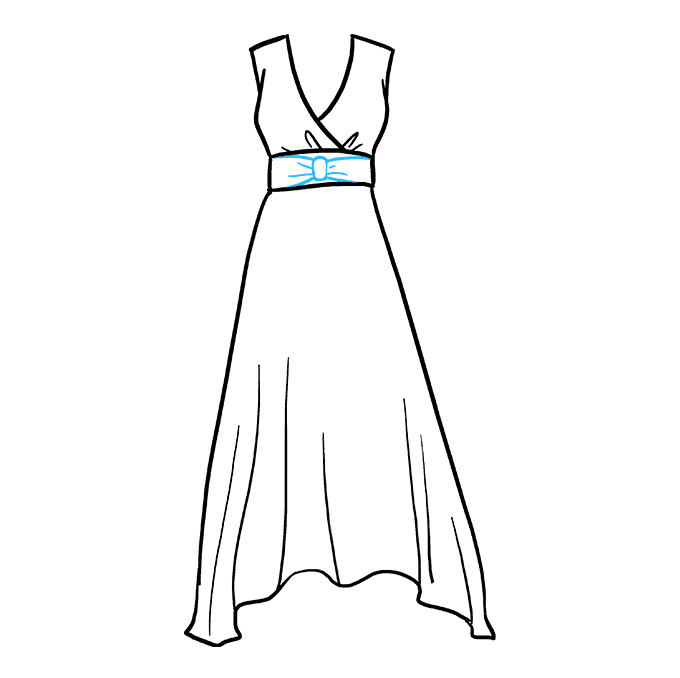 How to Draw Dress: Step 5