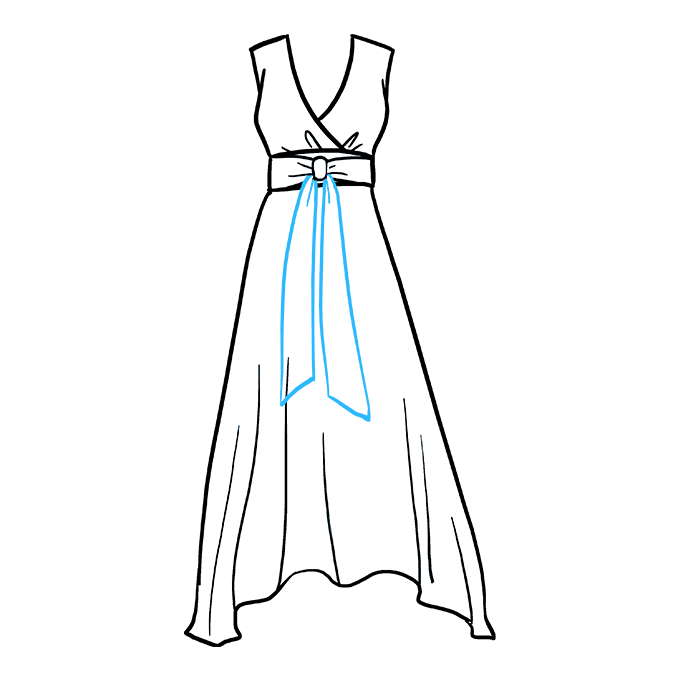How to Draw Dress: Step 6