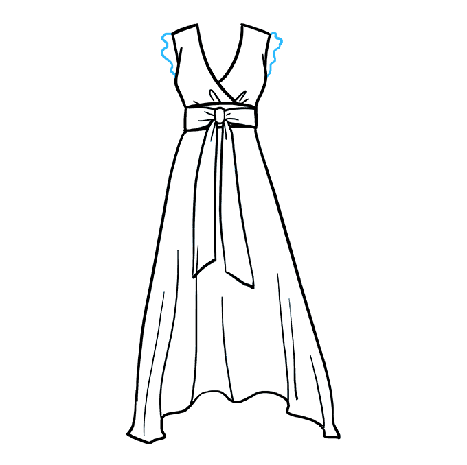 How to Draw Dress: Step 7