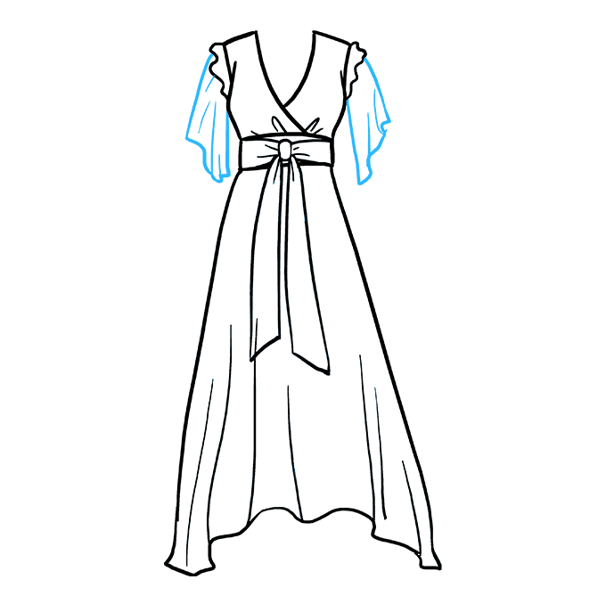 How to Draw Dress: Step 8