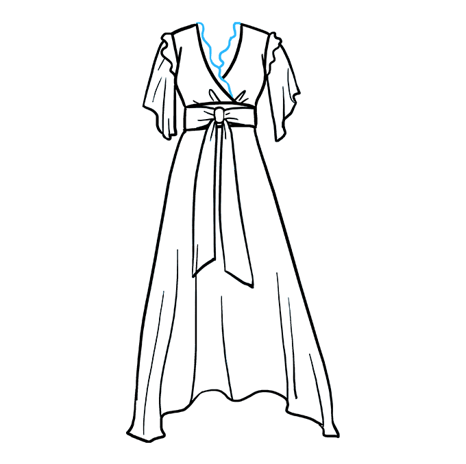 How to Draw Dress: Step 9