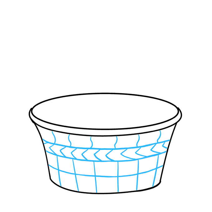 How to Draw Easter Basket: Step 4